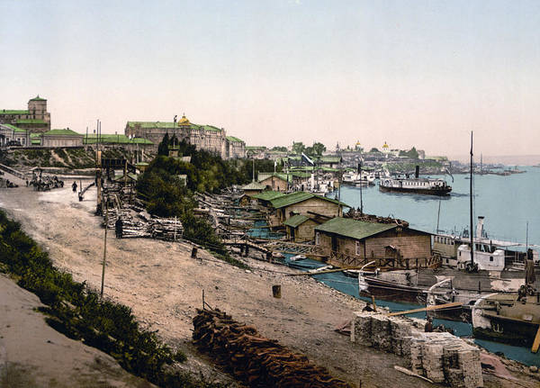 Dnieper Photograph - Dnieper River - Kiev - Ukraine - Ca 1900 by Dnieper RiverInternational  Images