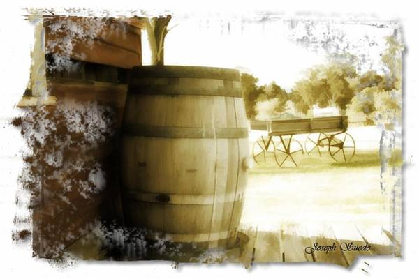 Vallery Photograph - Do-00028 Barrel With Antique Look by Digital Oil