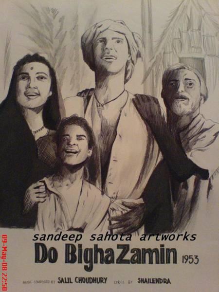 Orlando Bloom Painting - Do Bigha Zamin 1953 by San Art Studio