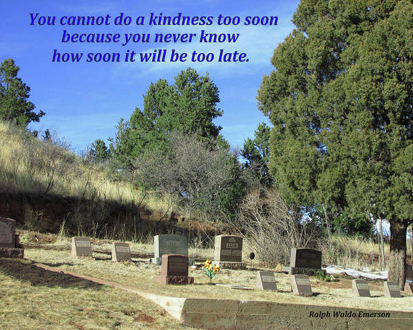 Digital Art - Do Kindness Before It Is Too Late by Julia L Wright
