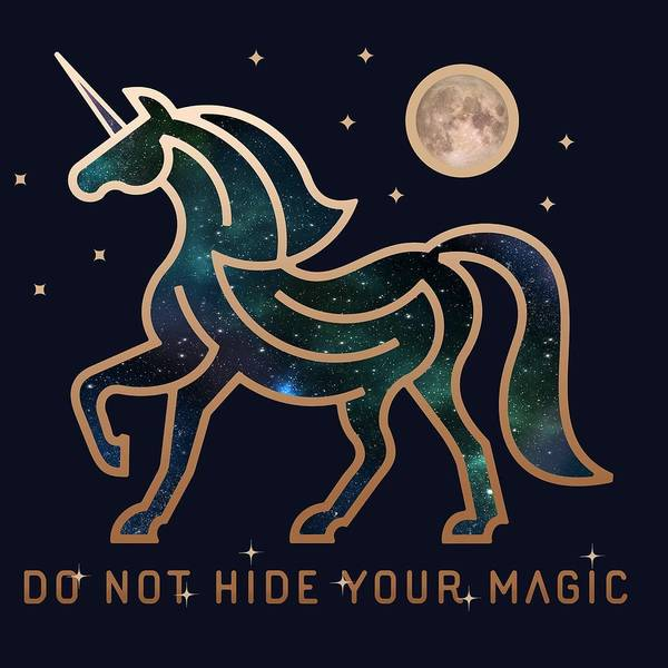 Mono Painting - Do Not Hide Your Magic by Little Bunny Sunshine