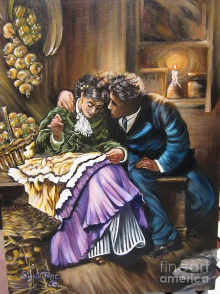 Painting - American History    Will You Marry  Me? by Sigrid Tune