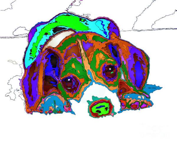 Digital Art - Do You Want To Take A Nap? Pet Series by Rafael Salazar