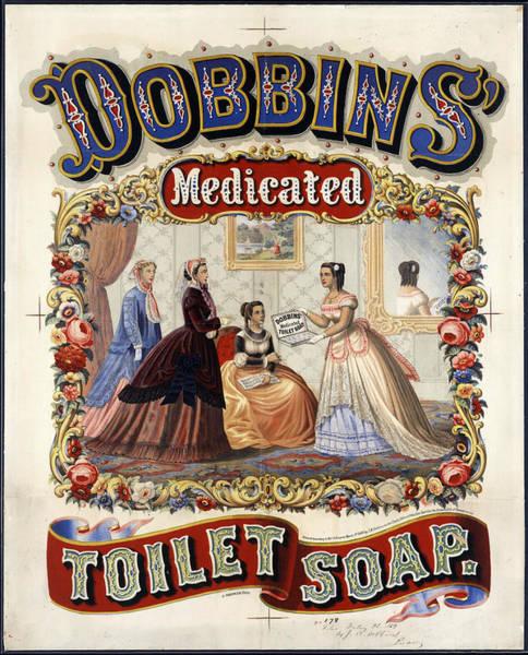 Art Nouveau Mixed Media - Dobbins Medicated Toilet Soap - Vintage Advertising Poster by Studio Grafiikka
