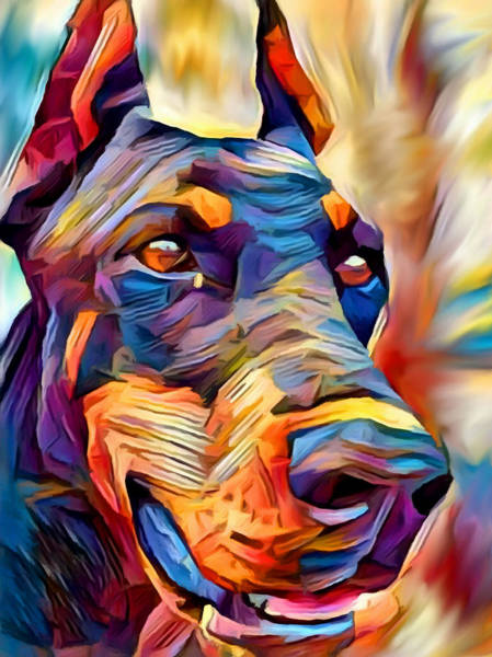 Wall Art - Painting - Doberman 2 by Chris Butler