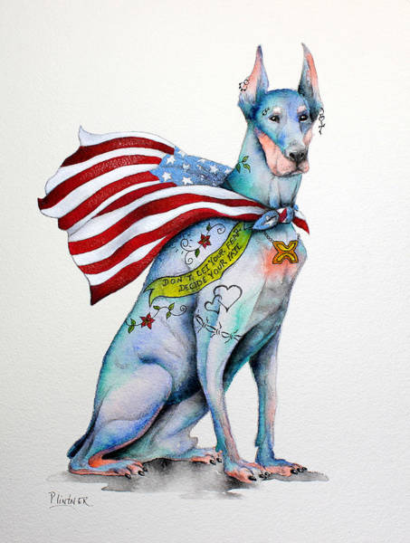 Doberman Wall Art - Painting - Doberman Napolean by Patricia Lintner