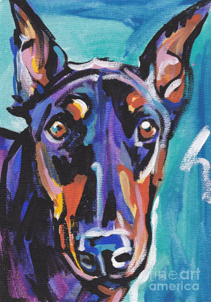 Doberman Wall Art - Painting - Dobie Gillis by Lea S