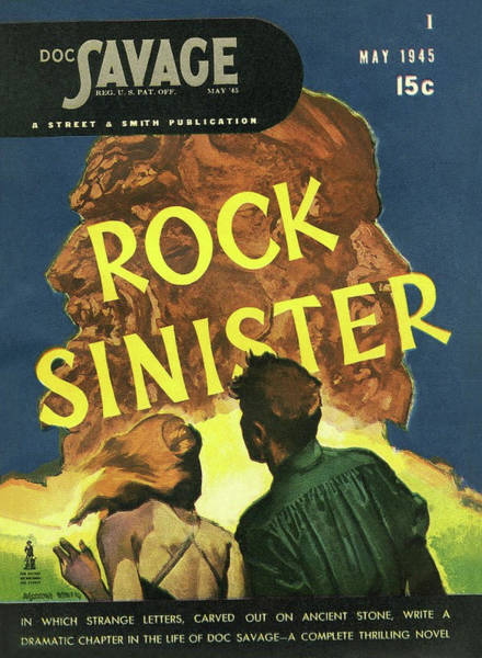 Stone Drawing - Doc Savage Rock Sinister by Conde Nast