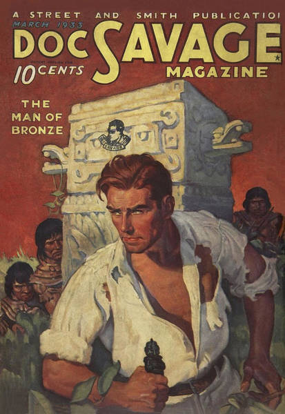 Stone Drawing - Doc Savage The Man Of Bronze by Conde Nast