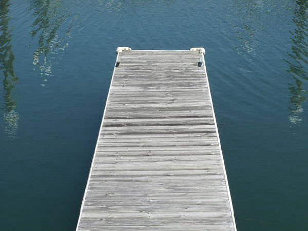Photograph - Dock And Water by Frank Romeo