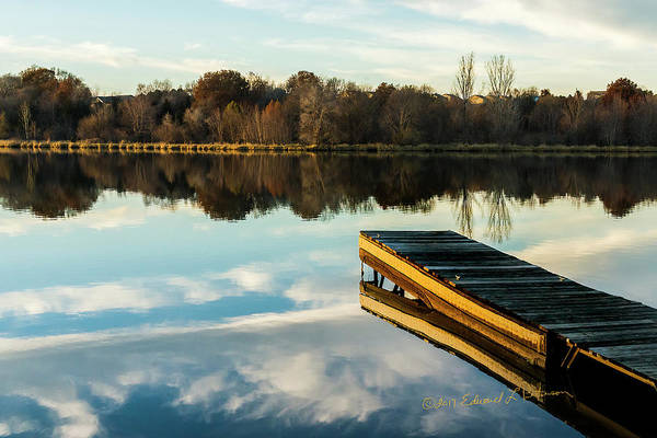 Photograph - Dock At Sunset by Edward Peterson