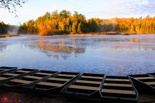 Wall Art - Photograph - Dock Of The Tahquamenon River by Michael Rucker