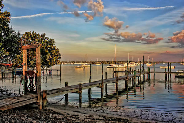 Dock Of The Bay Photograph - Dock On The Bay by HH Photography of Florida