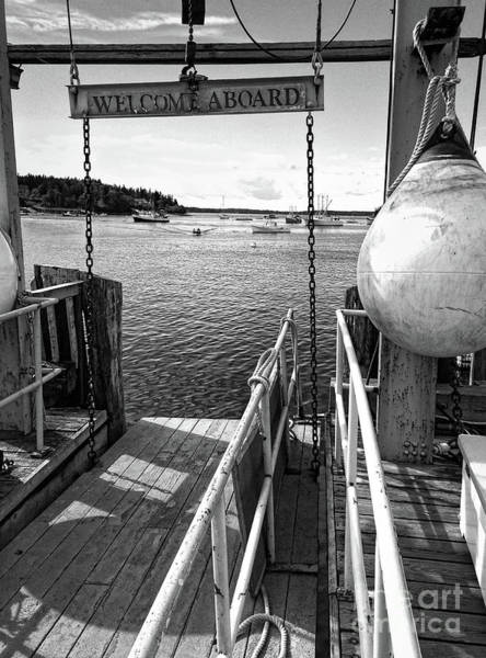 Photograph - Dock, Port Clyde, Maine  -2043-ip-bw by John Bald