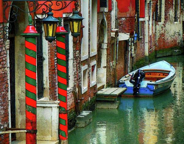 Photograph - Docked Boat Venice by Coleman Mattingly