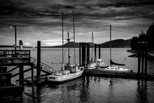 Photograph - Docked For The Night by Barry Weiss