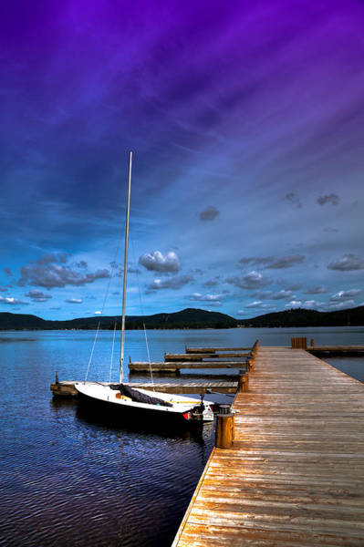 Chain Of Lakes Photograph - Docked On Fourth Lake by David Patterson