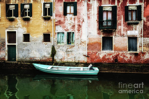 Photograph - Docked Venice Boat by Miles Whittingham