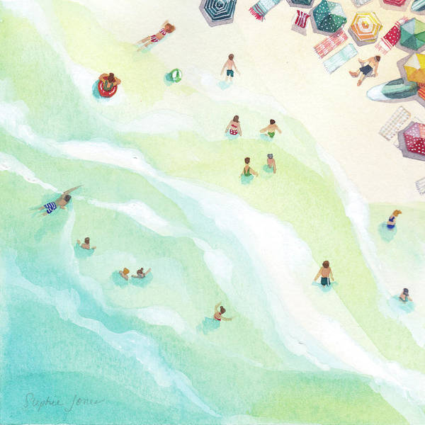 Beach Painting - Docking Station by Stephie Jones
