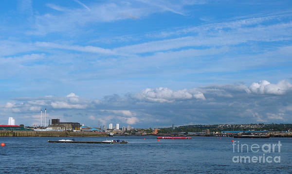 Docklands And Skyline Art Print