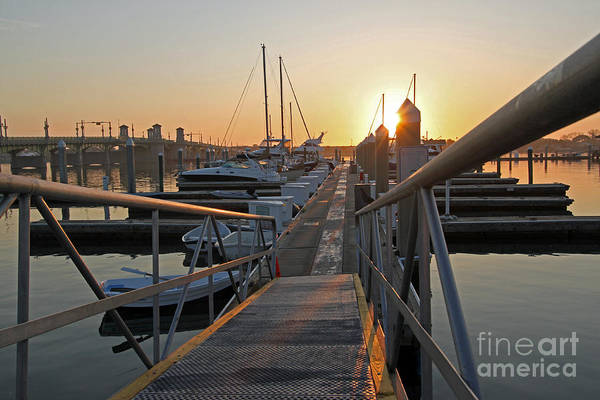 Steve Augustine Photograph - Dockside At St Augustine Florida by Steve  Gass