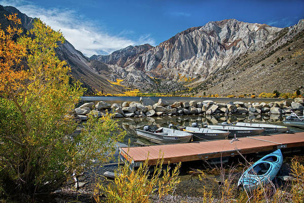 Photograph - Dockside In Autumn At Convict Lake by Lynn Bauer