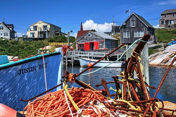 Photograph - Dockside Peggys Cove by David Matthews