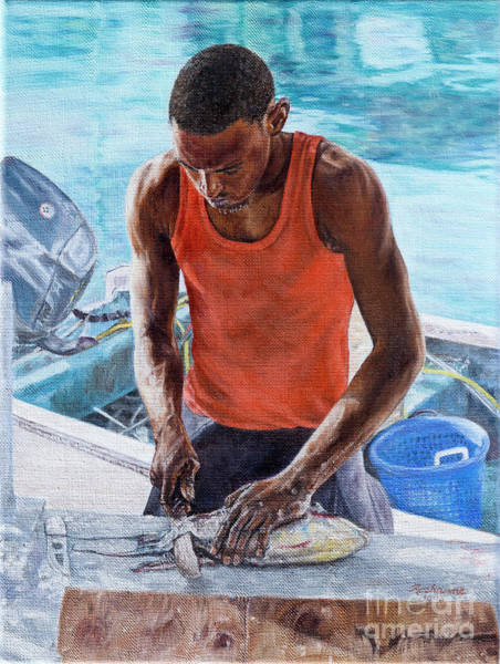 Painting - Dockside by Roshanne Minnis-Eyma