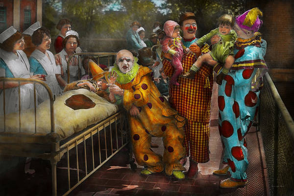 Photograph - Doctor - Fear Of Clowns 1923 by Mike Savad