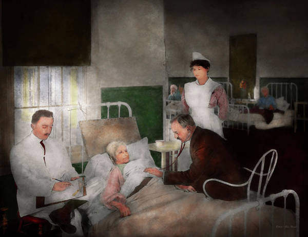Photograph - Doctor - Hospital - Bedside Manner 1915 by Mike Savad
