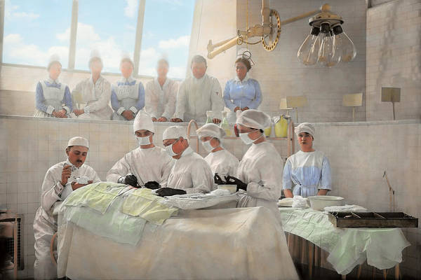 Photograph - Doctor - Operation Theatre 1905 by Mike Savad