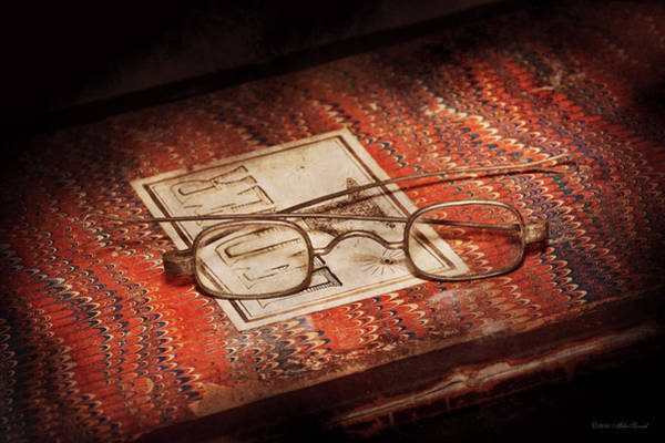 Photograph - Doctor - Optician - Reading Glasses by Mike Savad