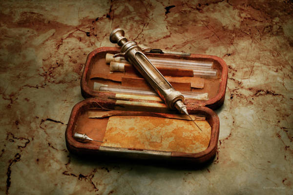 Photograph - Doctor - The Hypodermic Syringe by Mike Savad