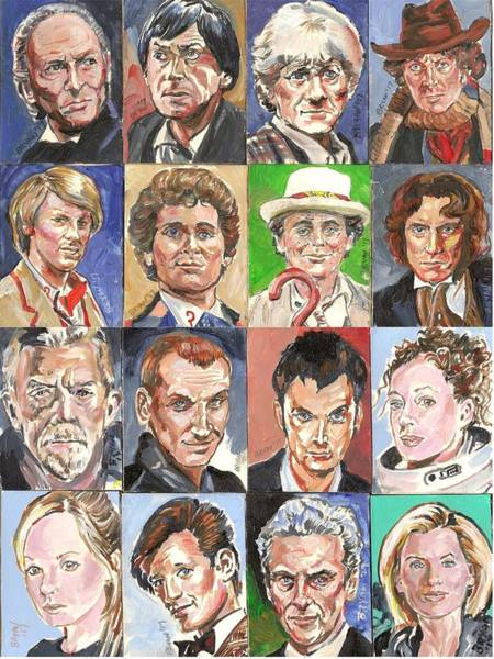Bbc Painting - Doctor Who 1963 To 2017 Revised by Bryan Bustard