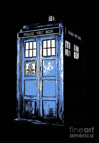 Digital Art - Doctor Who Tardis by Edward Fielding