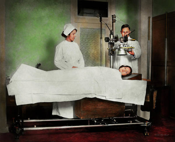 Photograph - Doctor - Xray - Getting My Head Examined 1920 by Mike Savad