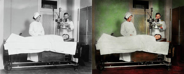 Photograph - Doctor - Xray - Getting My Head Examined 1920 - Side By Side by Mike Savad