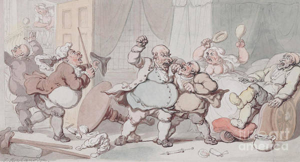 Wall Art - Drawing - Doctors Differ  by Thomas Rowlandson
