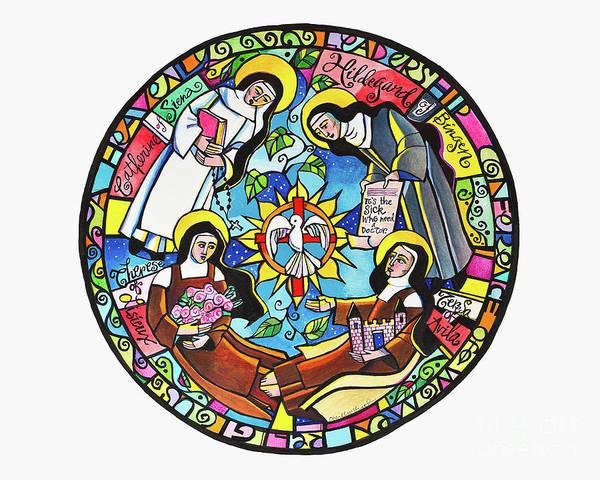 Painting - Doctors Of The Church Mandala - Mmdcm by Br Mickey McGrath OSFS