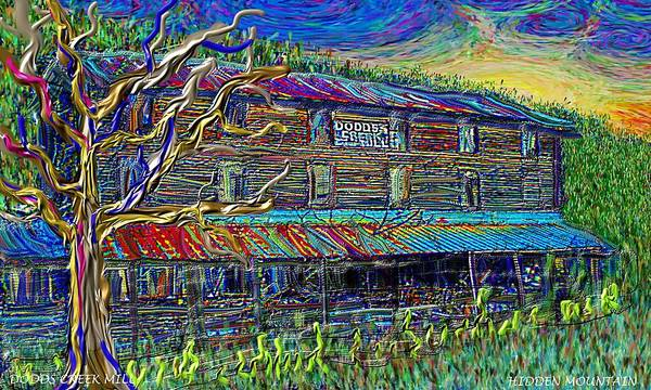 Dodds Creek Mill, ,floyd Virginia Art Print