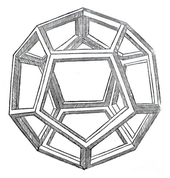 Wall Art - Drawing - Dodecahedron by Leonardo da Vinci