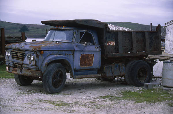 Dump Truck Photograph - Dodge 700 Dump Truck - Johnson Oyster Company by Soli Deo Gloria Wilderness And Wildlife Photography