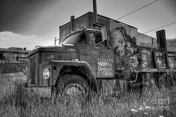Dump Truck Photograph - Dodge 800 Dump Truck by Tony Baca