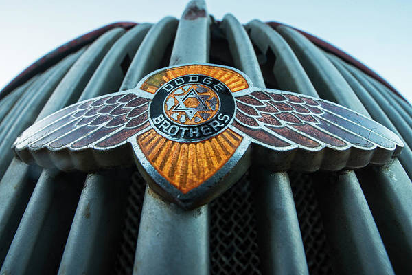 Photograph - Dodge Brothers Emblem Jerome Az by Toby McGuire