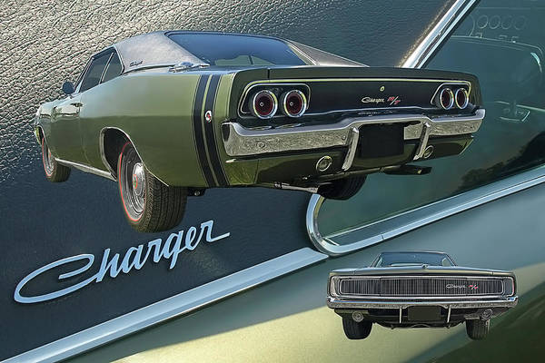 Photograph - Dodge Charger Rt 1968 Collage by Gill Billington