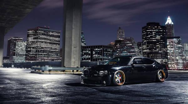 Skyline Digital Art - Dodge Charger Srt8 by Super Lovely