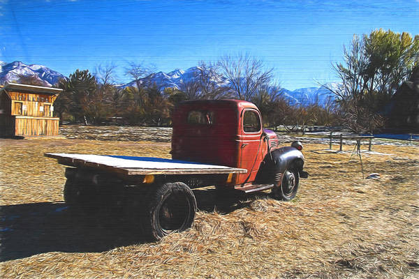 Fashion Plate Digital Art - Dodge Farm Truck Painterly Expressions by Nick Gray