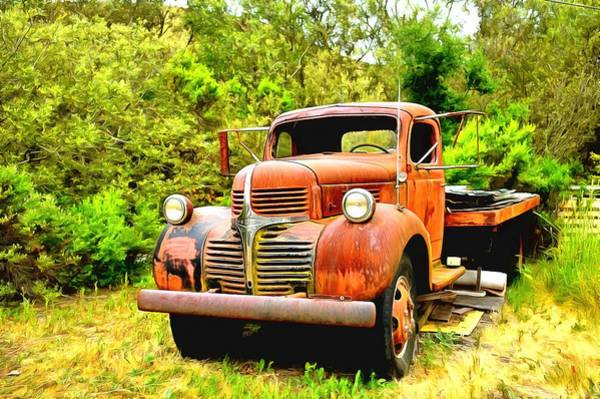 Photograph - Dodge Flatbed Truck Harmony 2 by Floyd Snyder