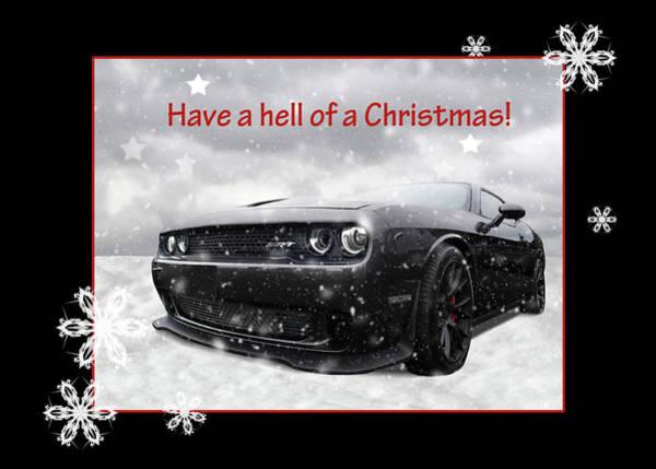 Photograph - Dodge Hellcat Christmas by Gill Billington