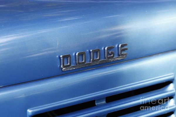 Photograph - Dodge Hood Emblem by Richard Lynch